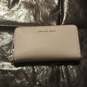 NWT Michael Kors wallet with strap